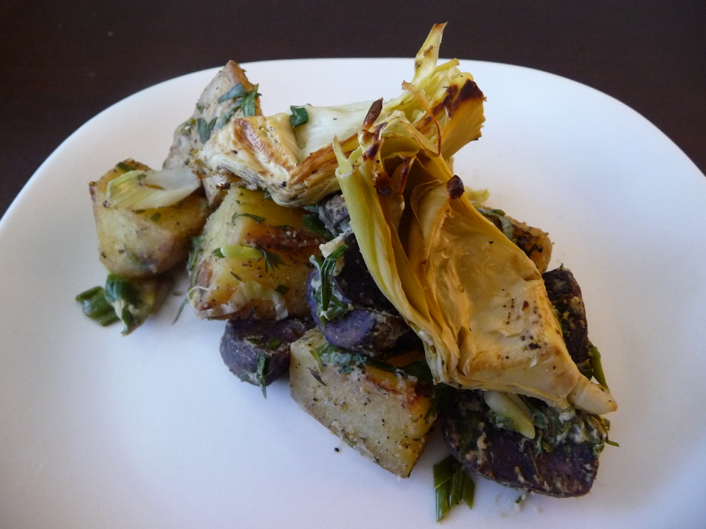 Artichoke Tarragon Potato Salad