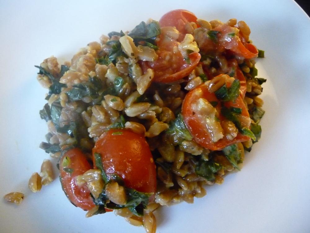 Roasted Tomato Farro Salad