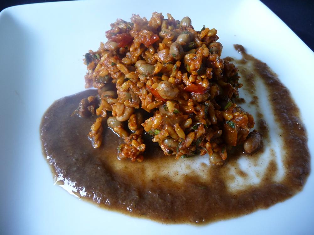 Jamaican Jerk Pigeon Peas and Rice