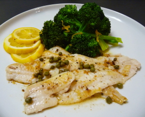 French Baked Lemon Sole - Healthy, Low-Fat Delicious Summer Entree