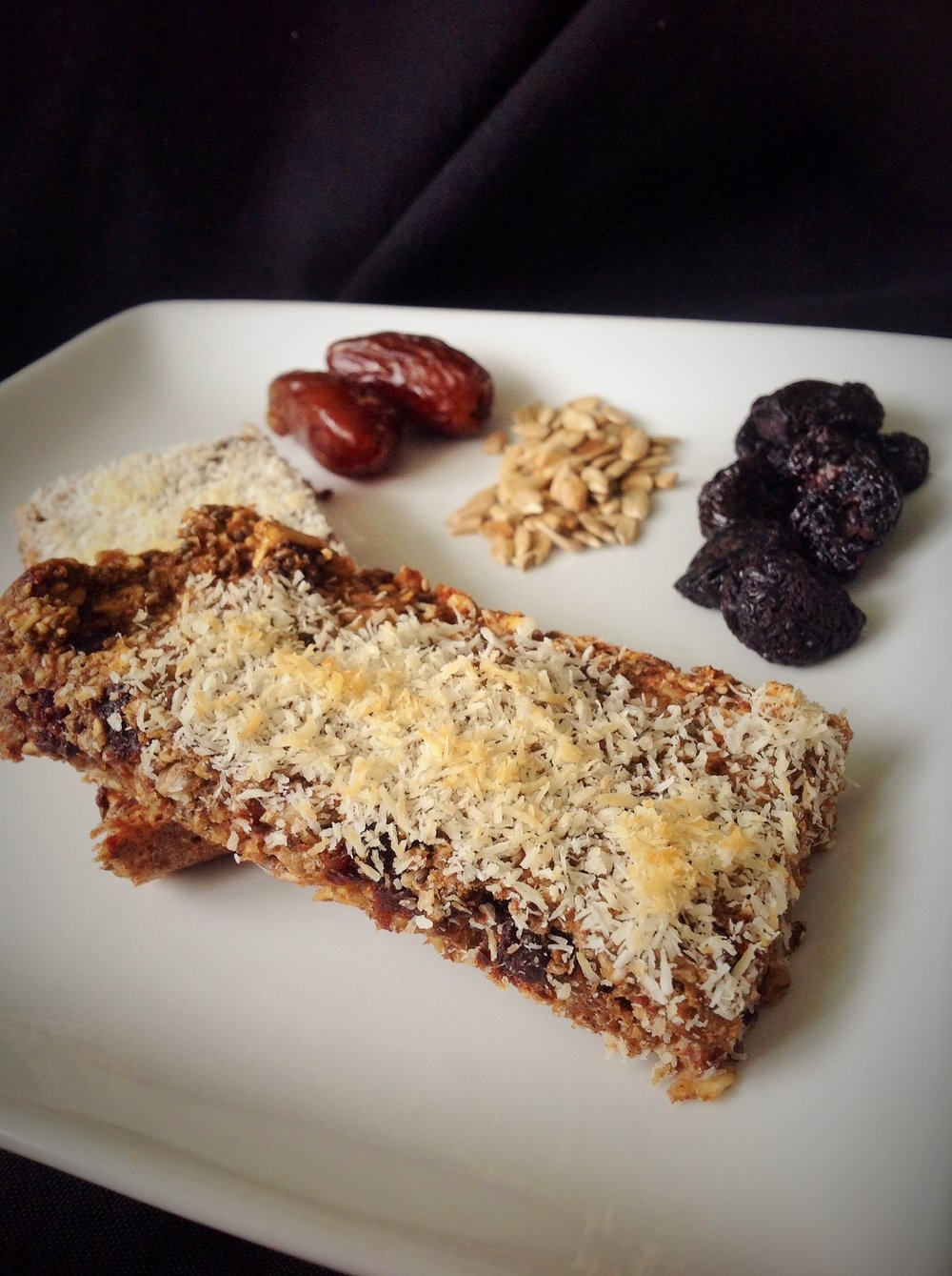 Coconut Cherry Chewy Granola Bars - Healthy, Plant-Based, Gluten-Free, Sugar Free, Vegan Breakfast Snack