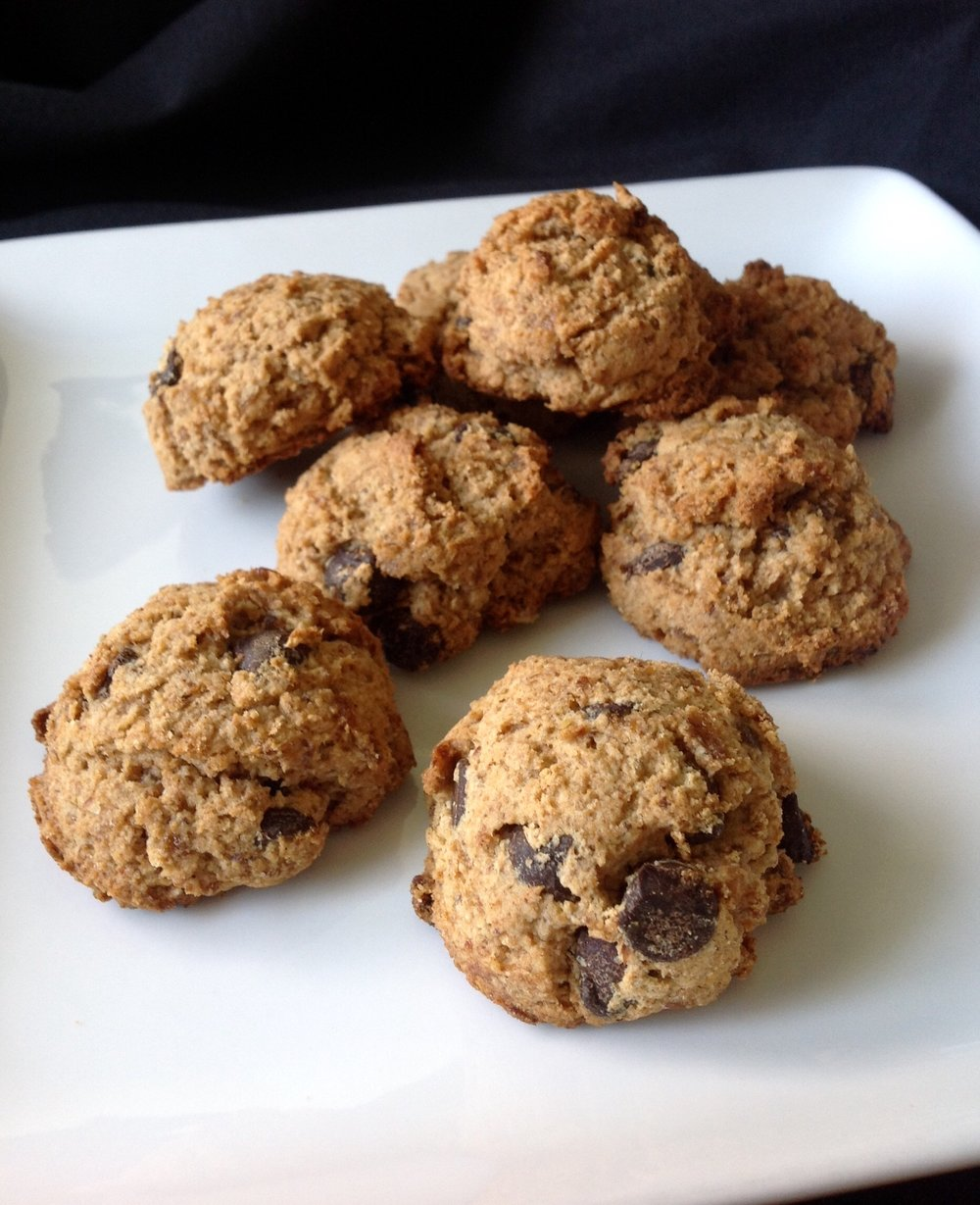 Whole Grain, Vegan Chocolate Chip Cookies
