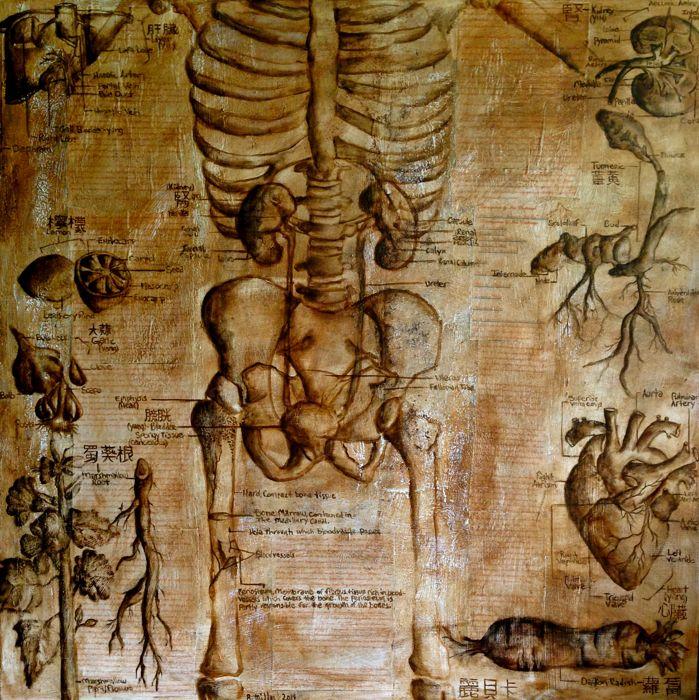 """Consciousness"" , 2014   Mixed media on canvas"