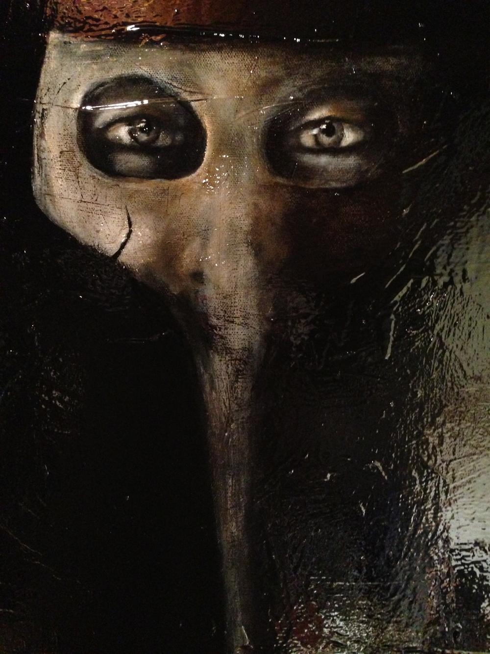 Maschera di arte, 2014    Acrylic & oil on canvas