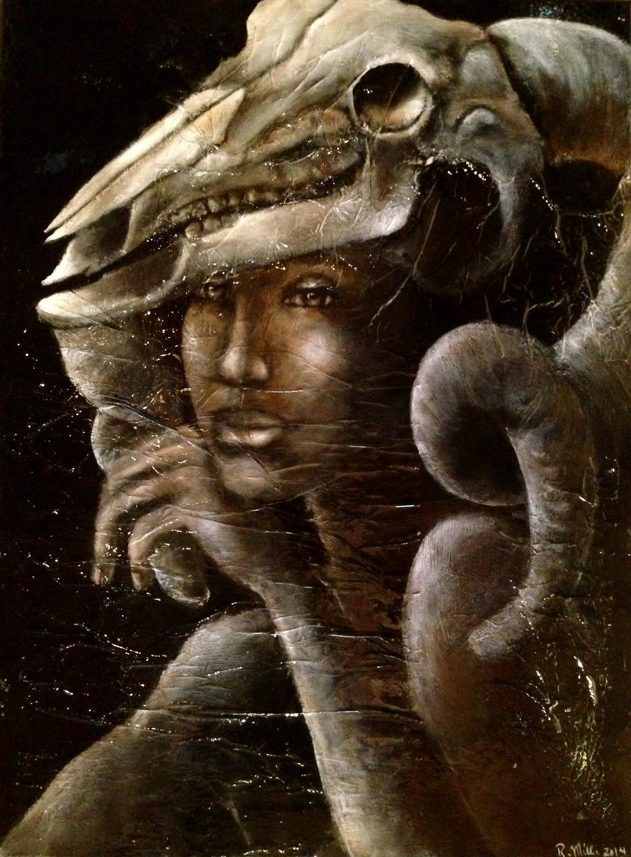 Eredità di spirito, 2014  Acrylic & Oil on canvas