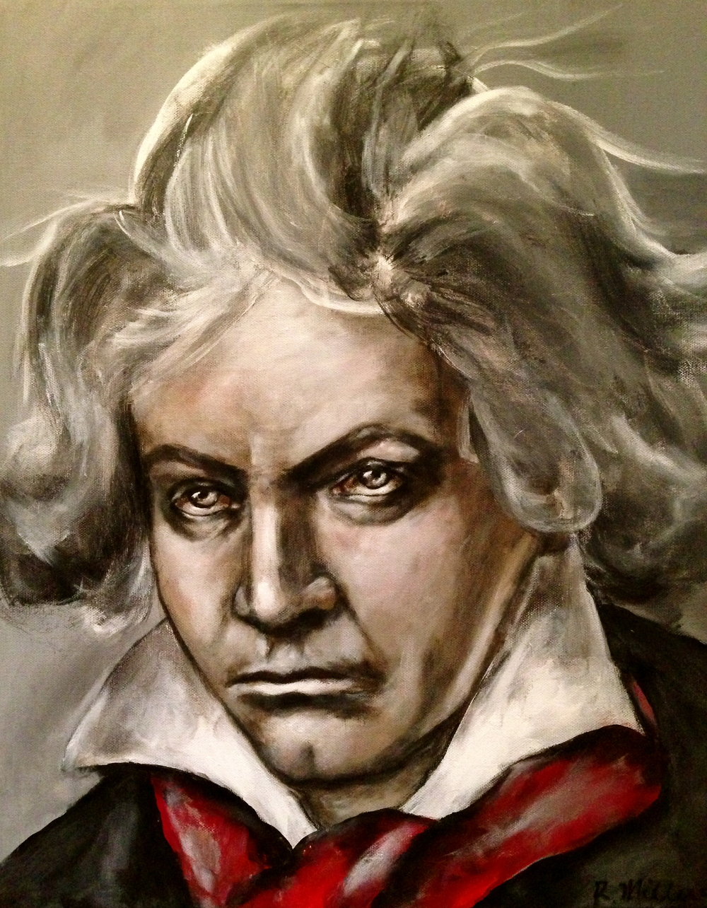 Ludwig Van Beethoven, 2014    Acrylic and oil on canvas