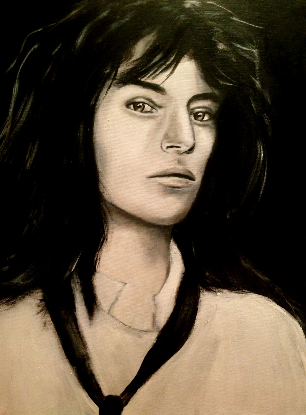Patti Smith, 2014    Acrylic on canvas