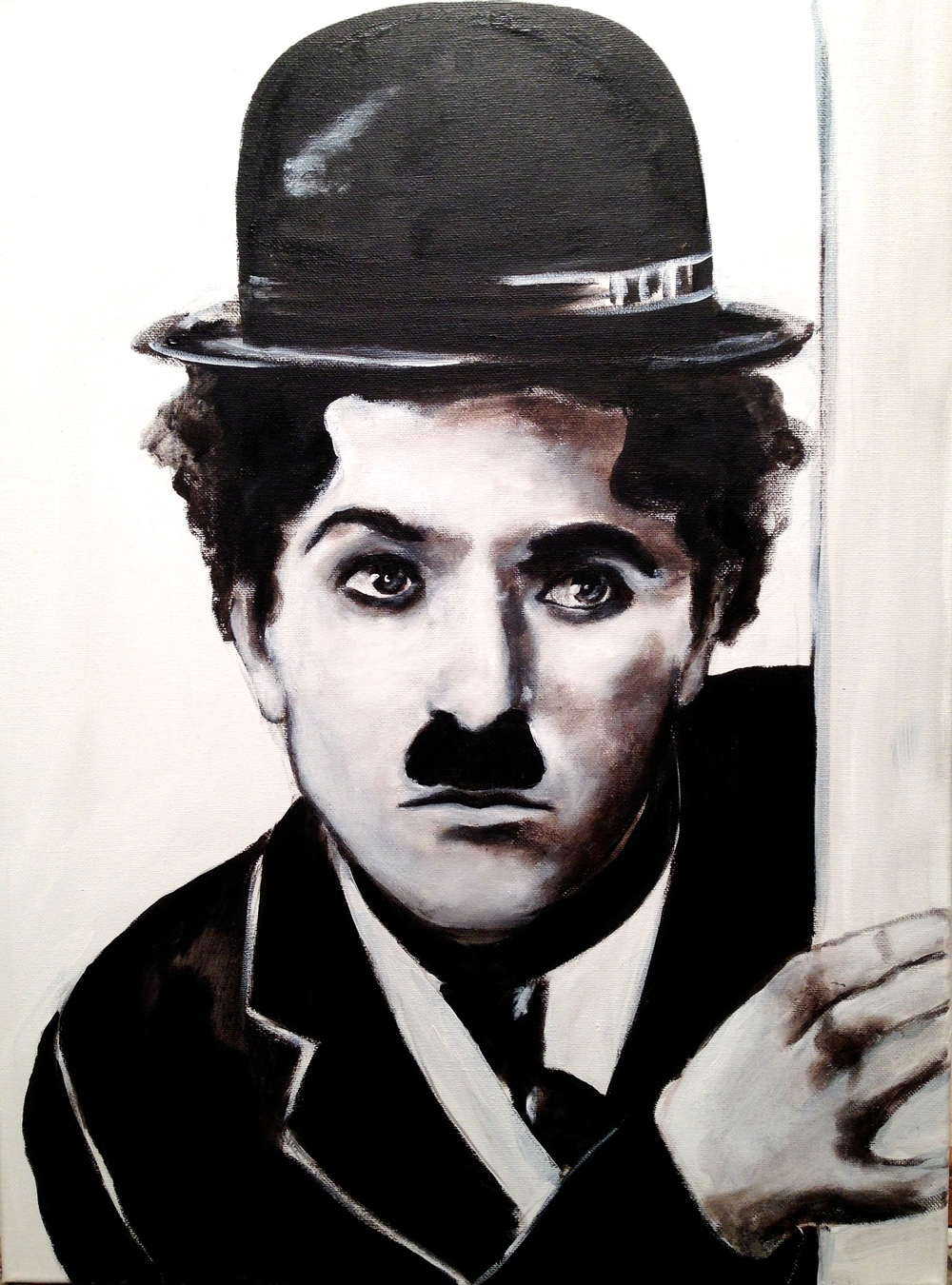Charlie Chaplin, 2015 Acrylic & oil on canvas
