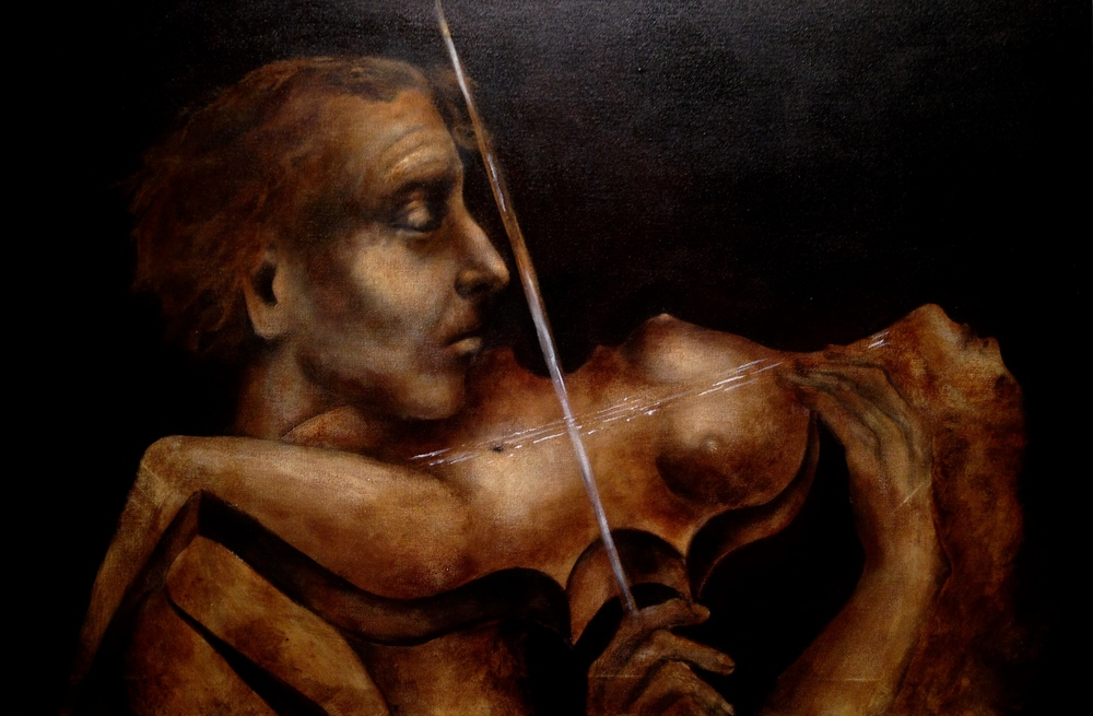 Stradivarius, 2015   Acrylic & oil on canvas