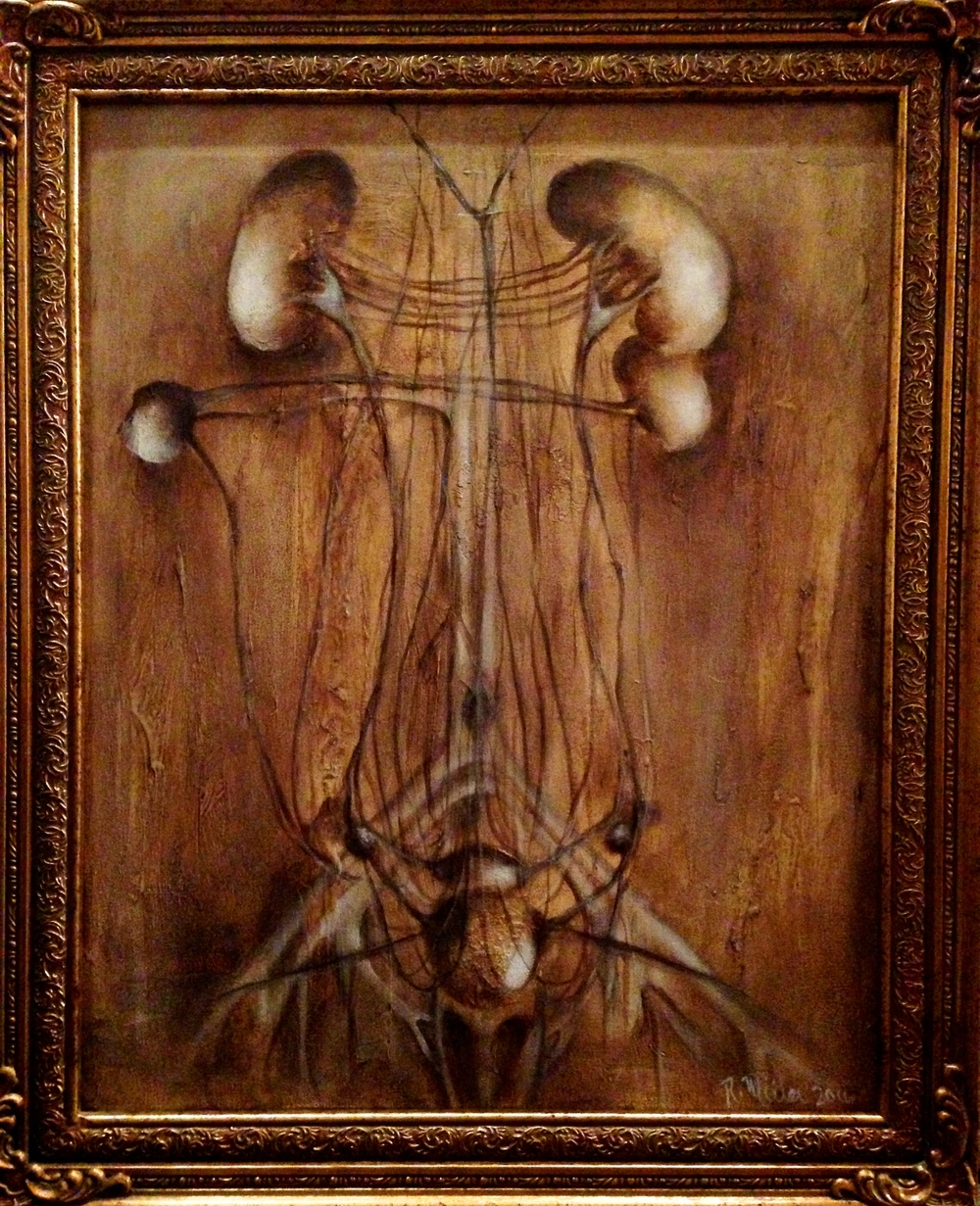 (framed)Artnatomy I, 2016 Mixed media on canvas