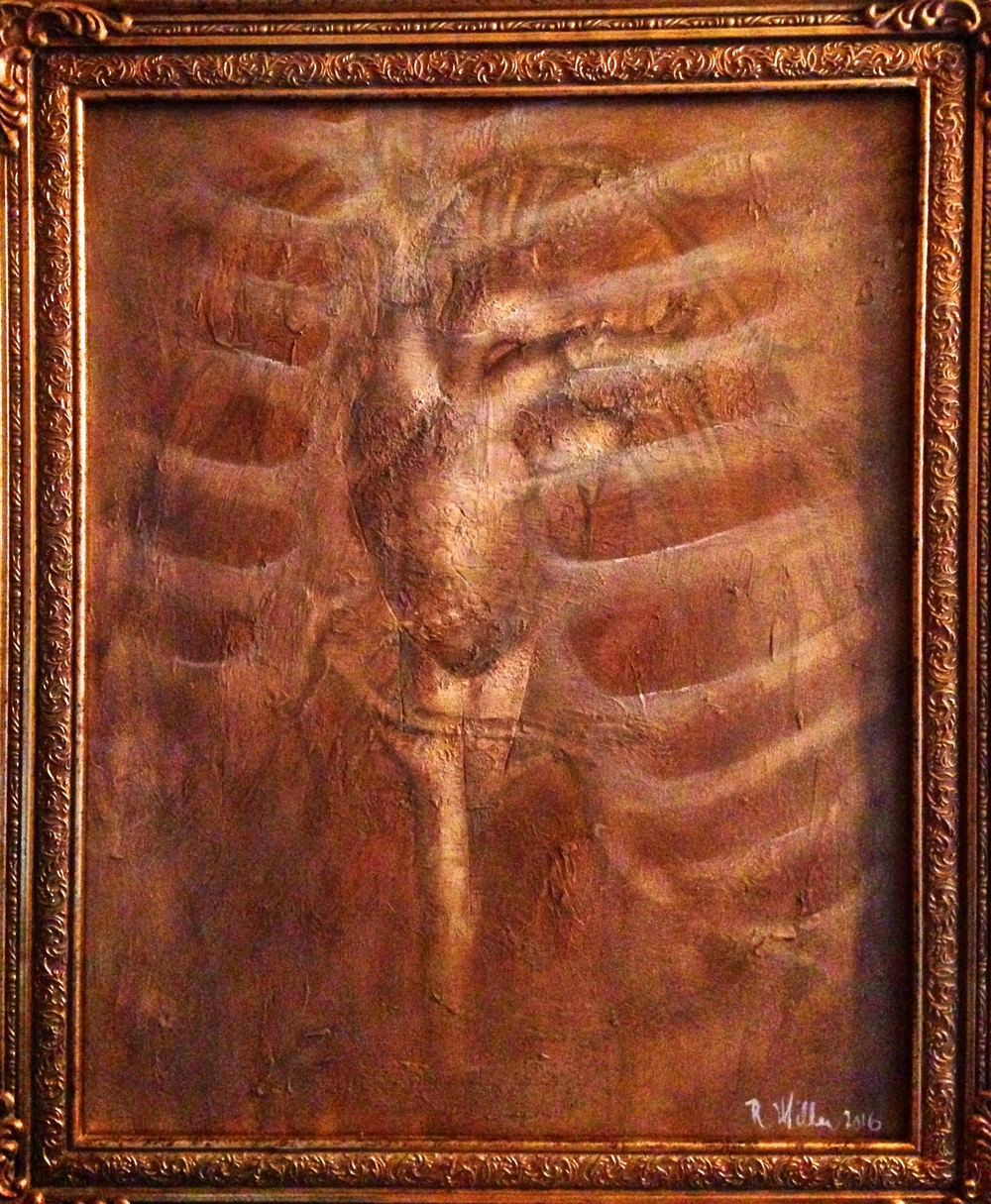 Artnatomy II The Heart, 2016   Mixed media on canvas
