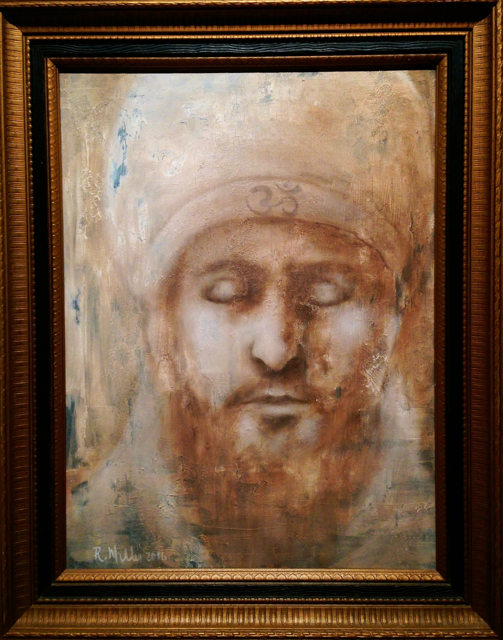(framed)Yogi, 2016 Mixed Media on canvas