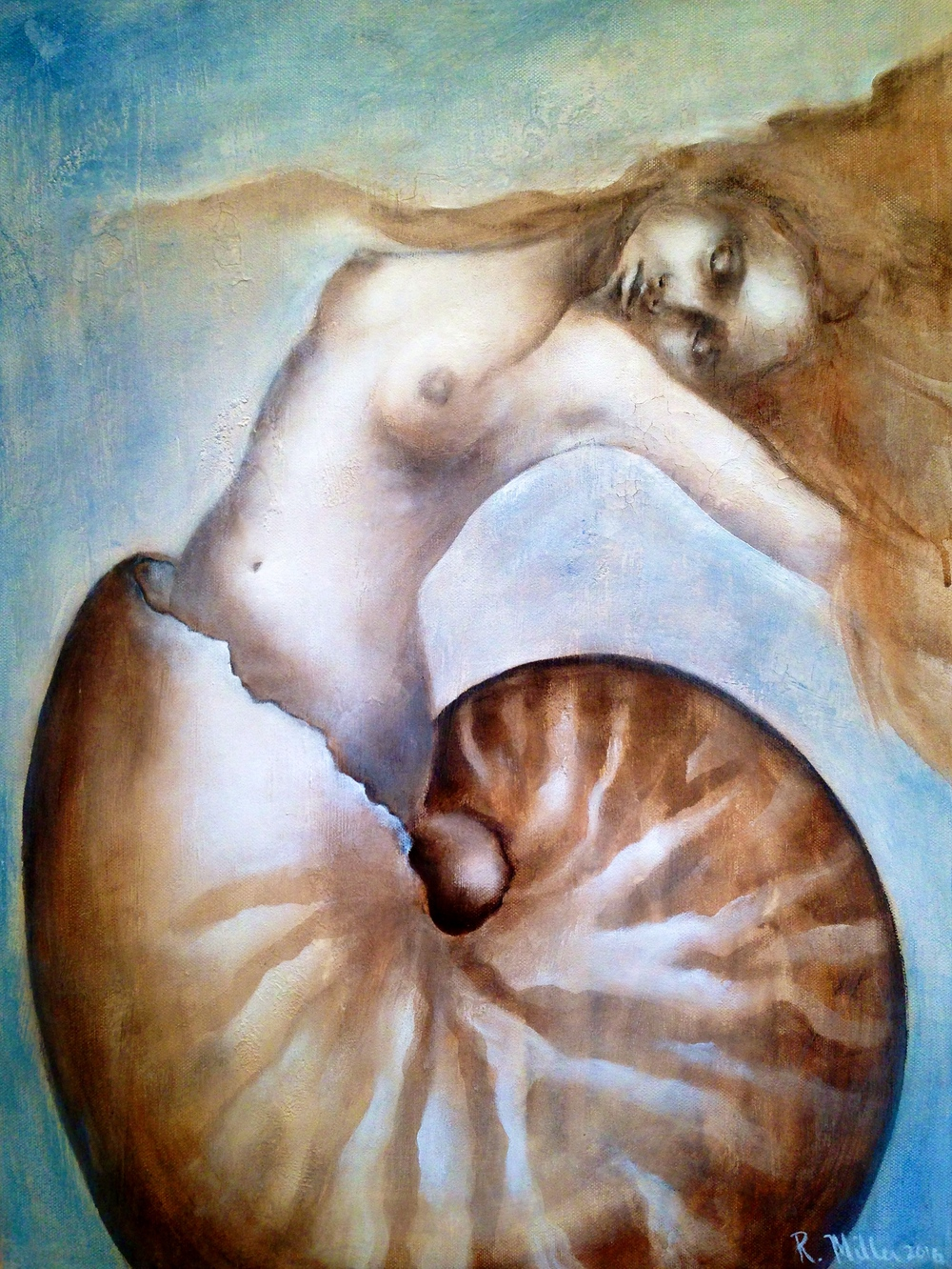 Nautilus, 2016   Mixed media on canvas