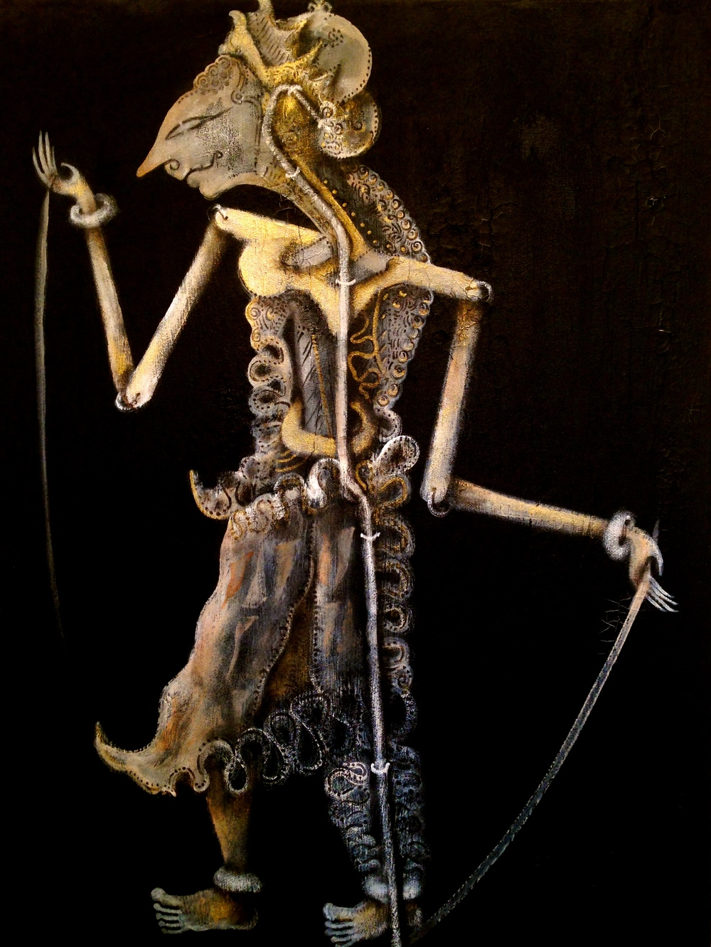 Wayang, 2016   Acrylic/texture medium on canvas