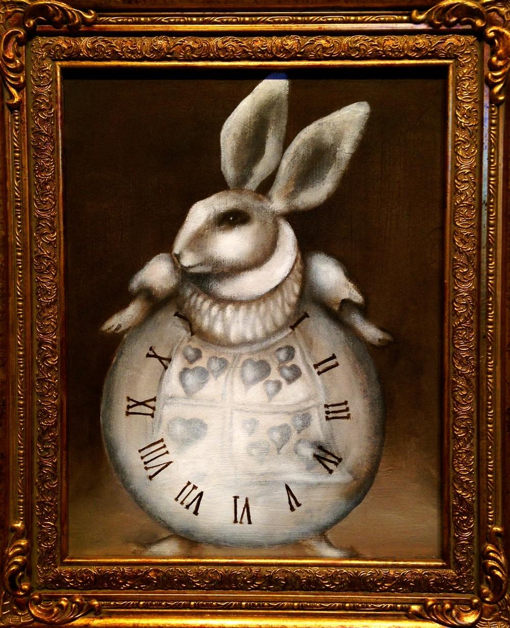 Rabbit Hole To Retirement, 2016   Acrylic & texture medium on canvas