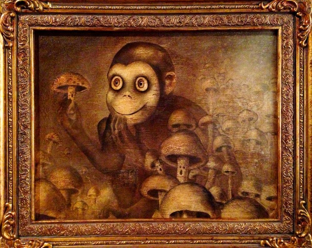 Overly Curious George, 2016   Acrylic & texture medium on canvas