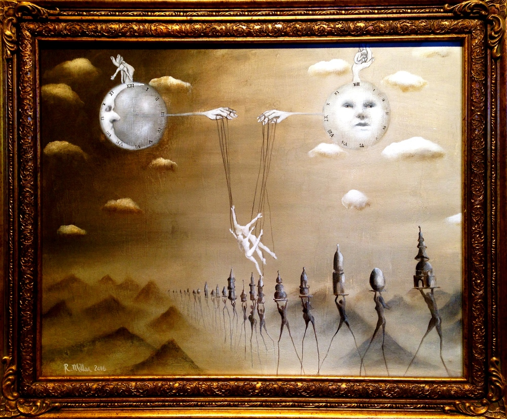 The Illusion, 2016 Acrylic, oil,& texture medium on canvas