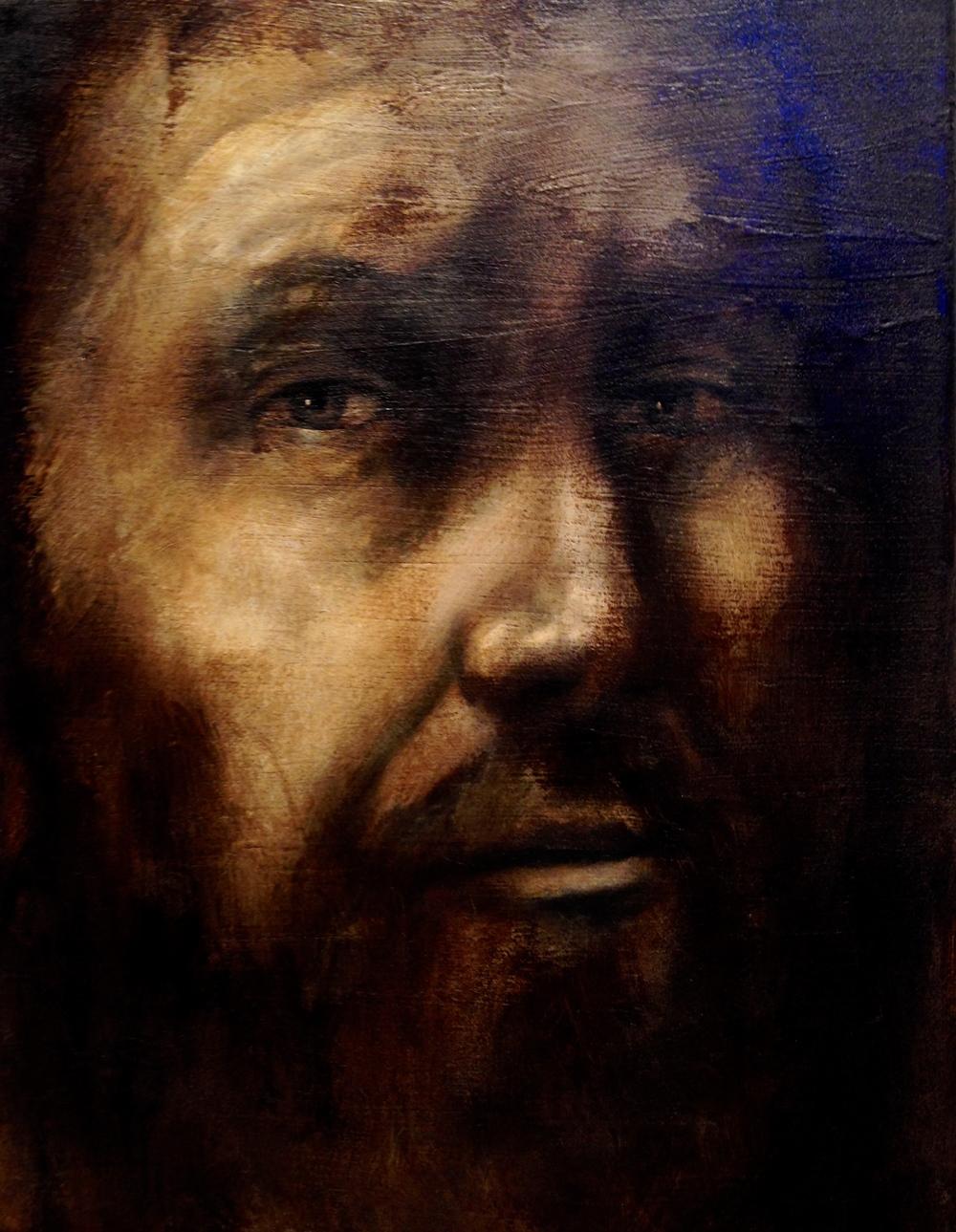 The Savant,2016   Acrylic, oil, texture medium on canvas