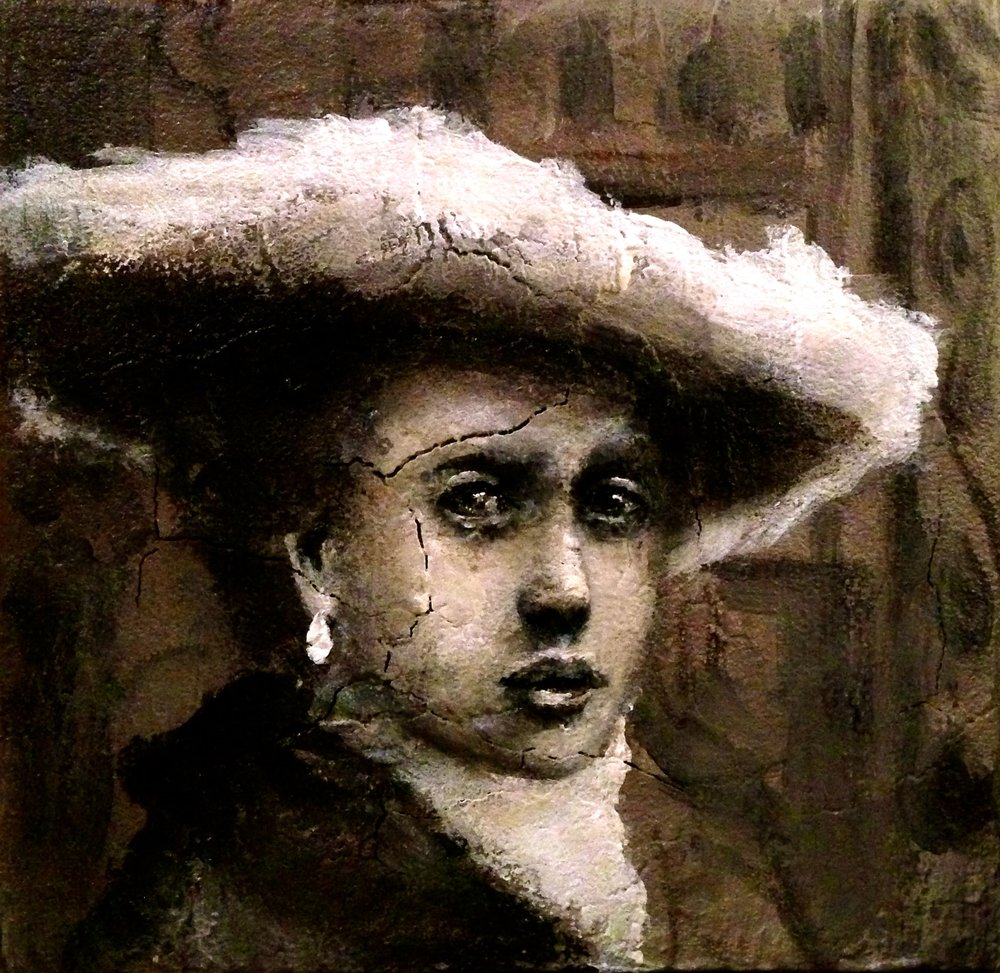 My 4x4 inch take on a Vermeer, 2016