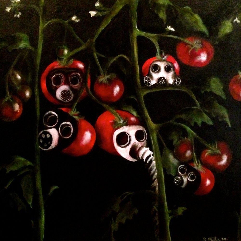Strange Fruit, 2015   Acrylic & oil on canvas