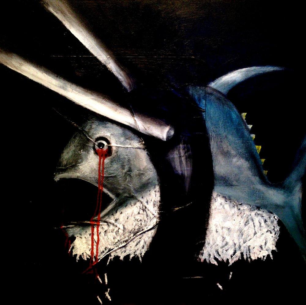 Trawling Sushi, 2015 Acrylic & oil on canvas