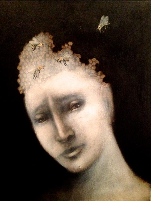 Colony Collapse, 2015    Acrylic & oil on canvas