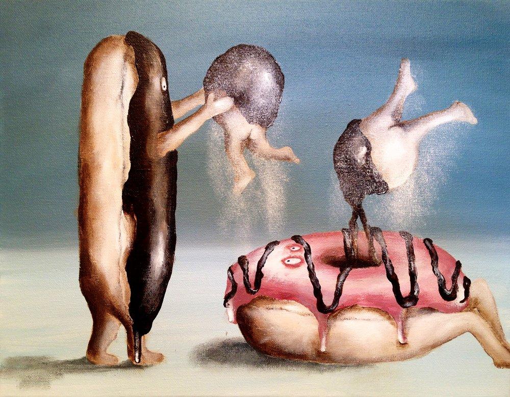 Birth of The Donut Hole, 2017   Acrylic on canvas