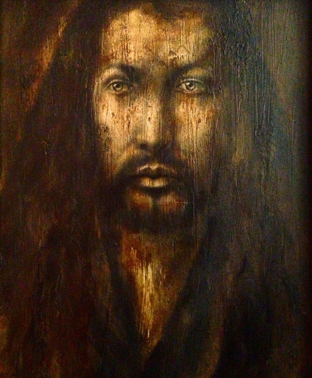 Albrecht Dürer, 2016   Acrylic, texture medium on canvas