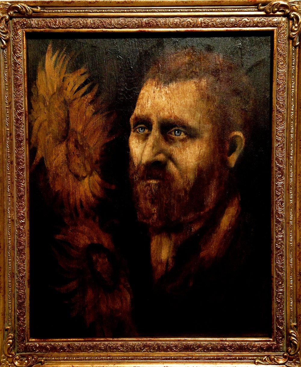 Van Gogh's Sanity, 2016 Acrylic & texture medium on canvas