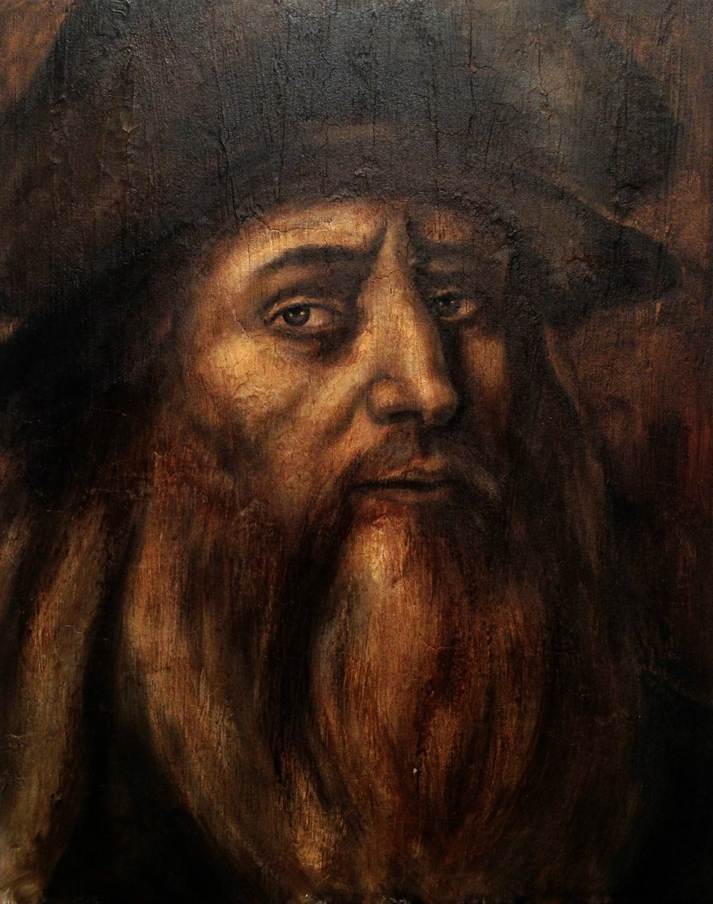 Da Vinci, 2016   Acrylic & texture medium on canvas