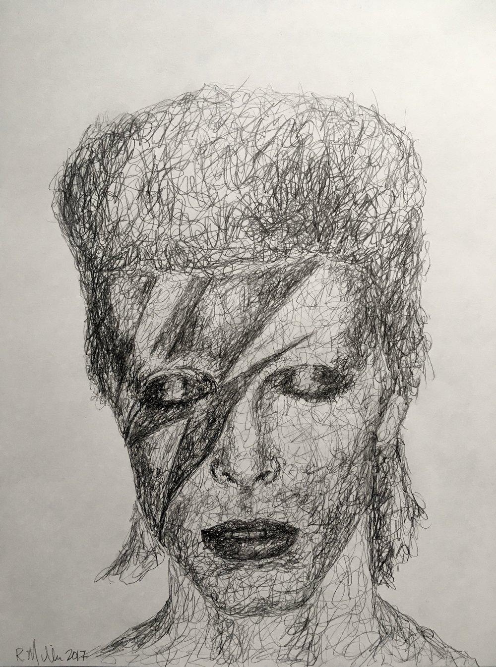 "Scribble Ziggy, 2017   #2 Pencil on paper 11""x 14"""