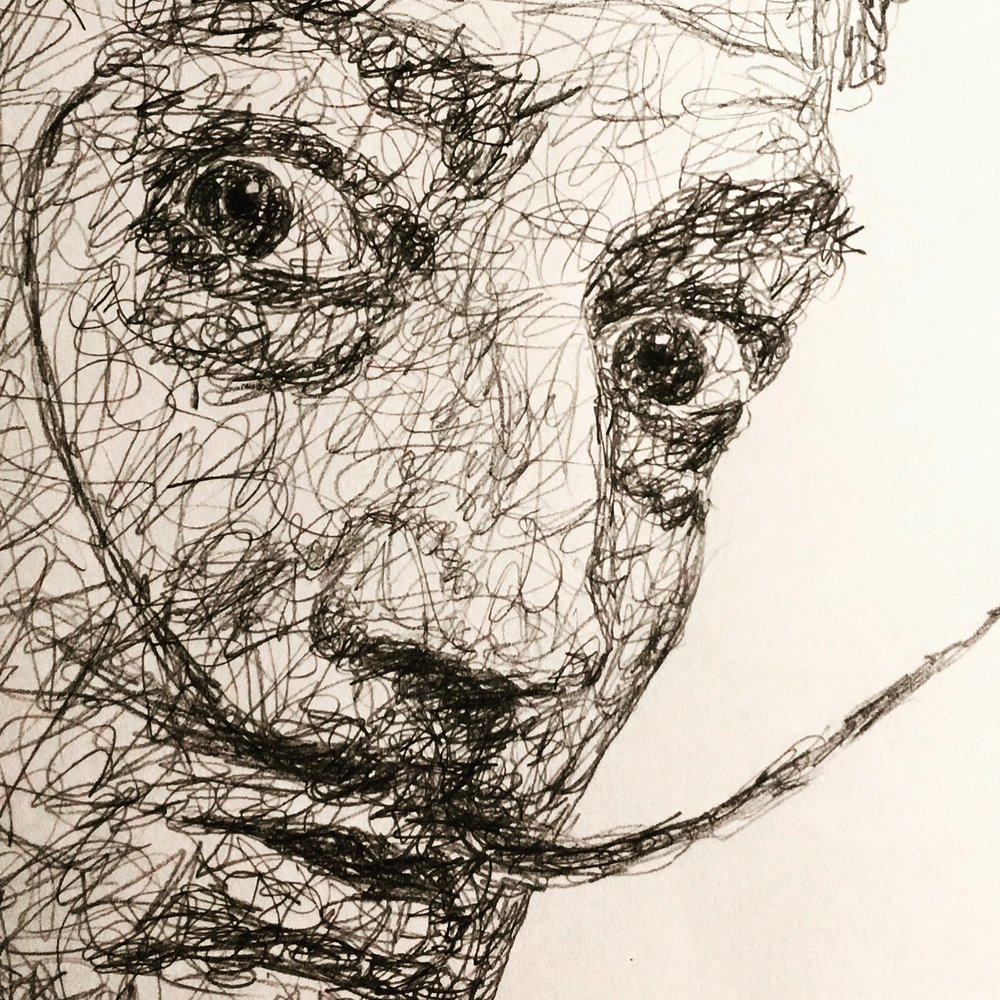 "DaliDoodle, 2017 (closeup)   #2 Pencil on paper 11""x 14"""
