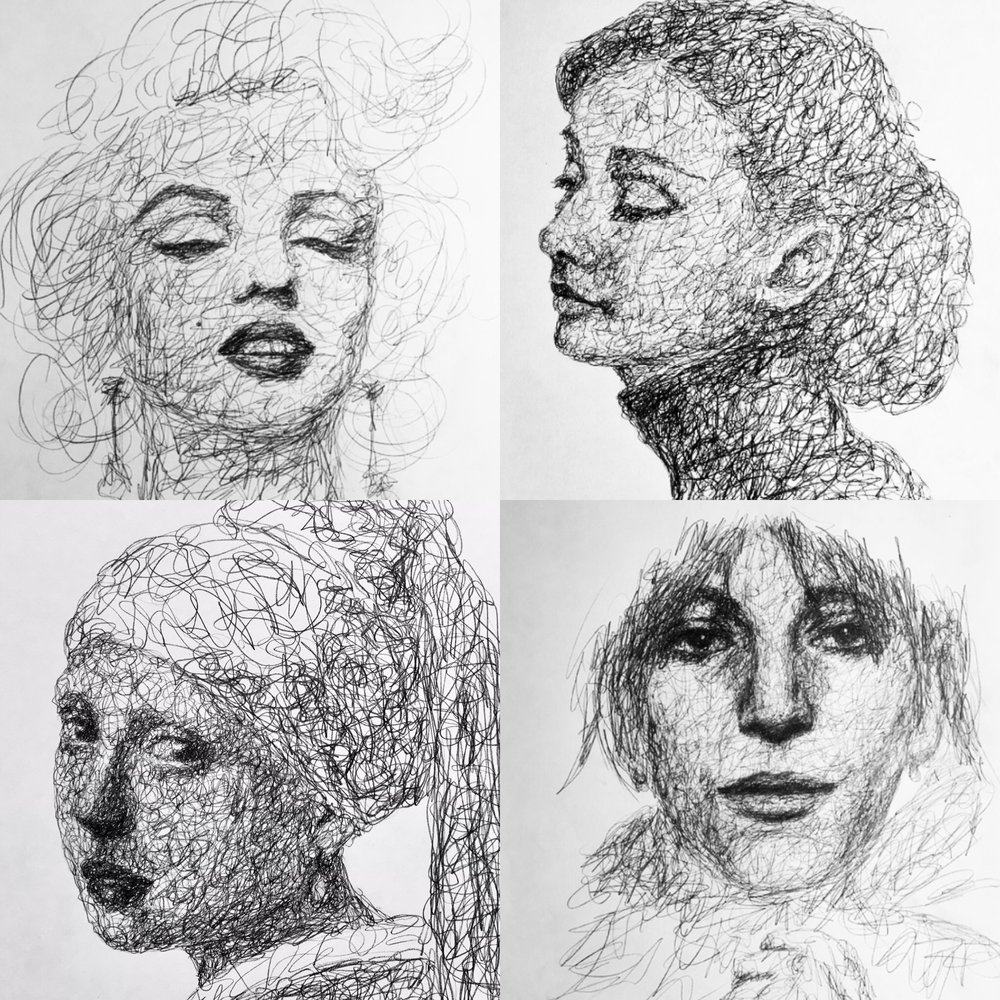 Combo Marilyn, Audrey, Girl with The Pearl Earring, & Patti