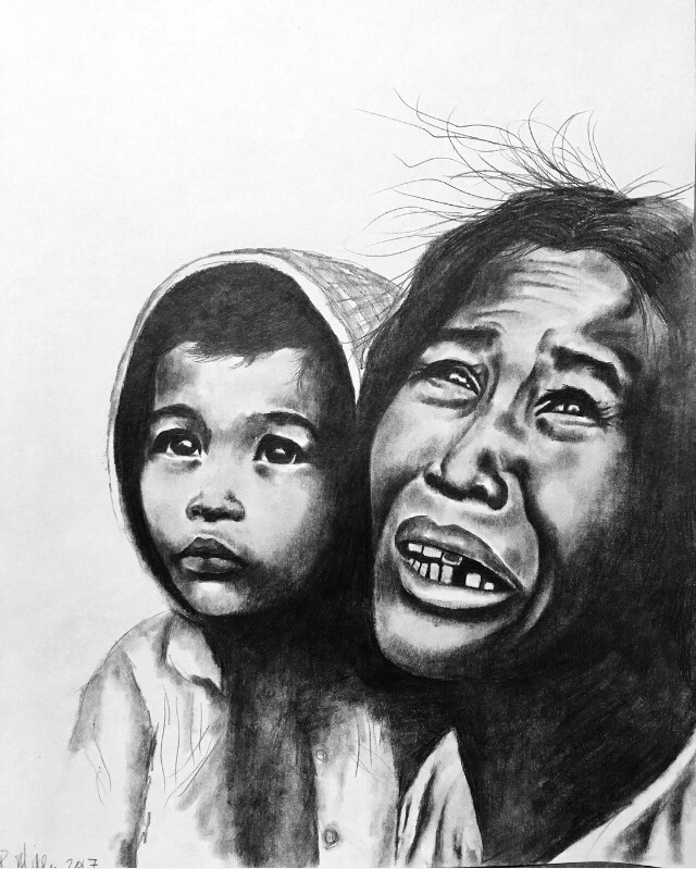 Mother & Child, 2017  #2 pencil on paper