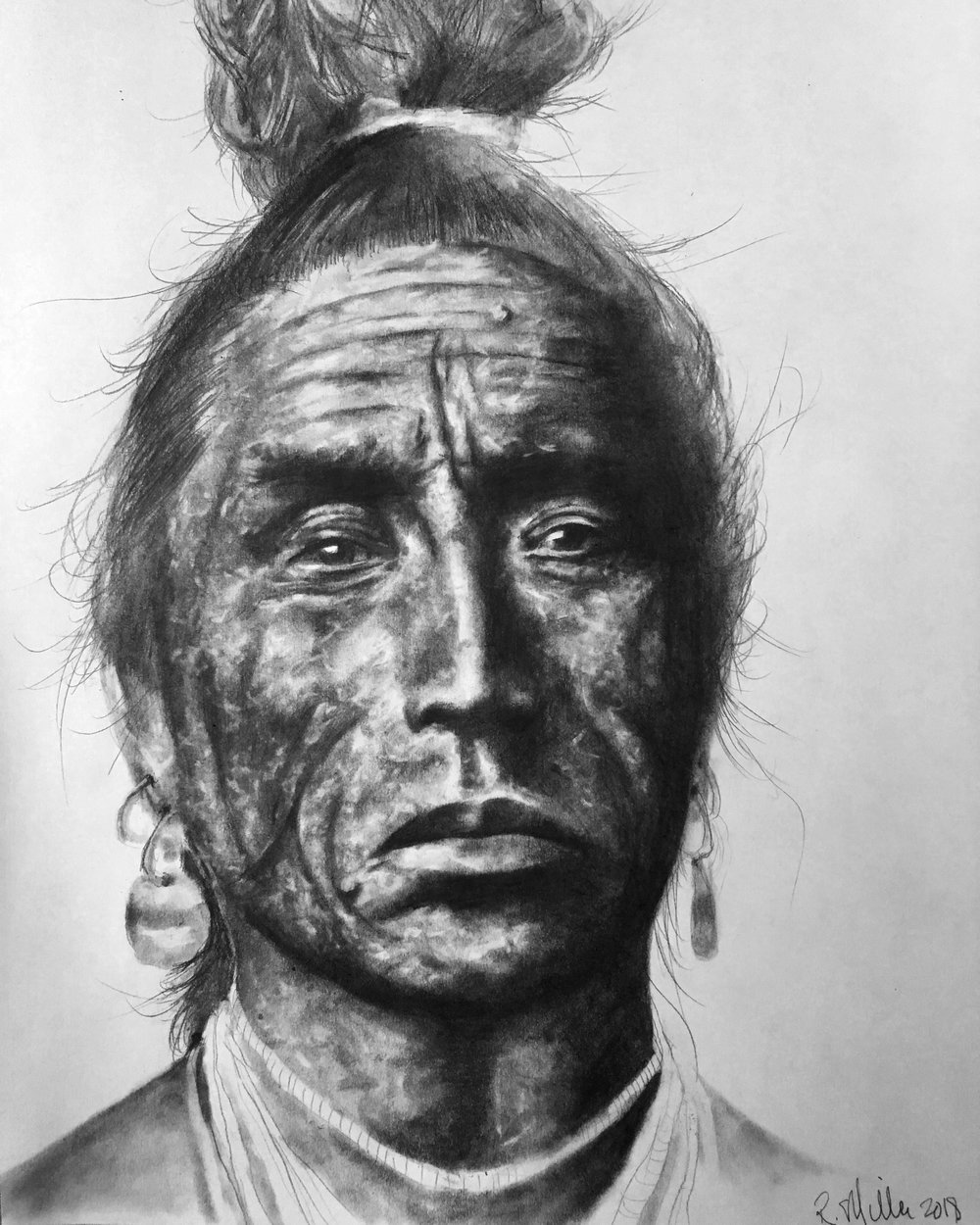 "Crow, 2018   #2 pencil on paper, 11""x14"""