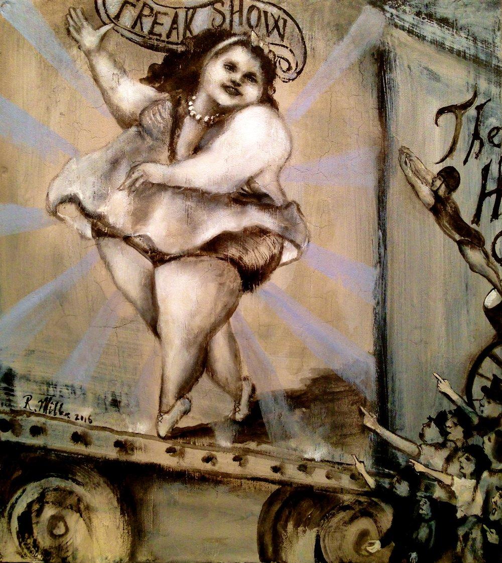 Freakshow, 2016   Acrylic on wood