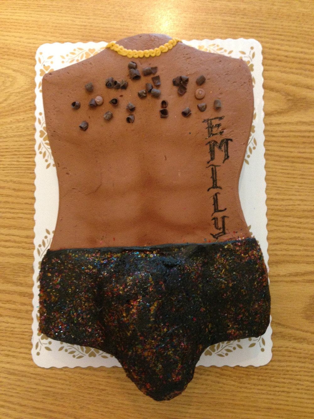 Male Torso Cake in Chocolate