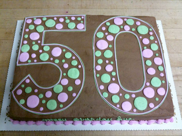 Giant 50 in Polka Dots