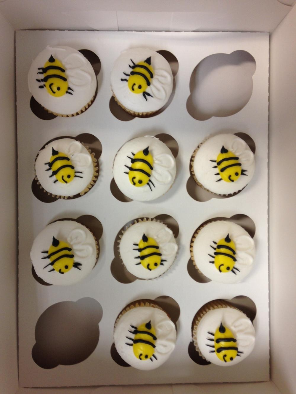 Bee on Cupcake