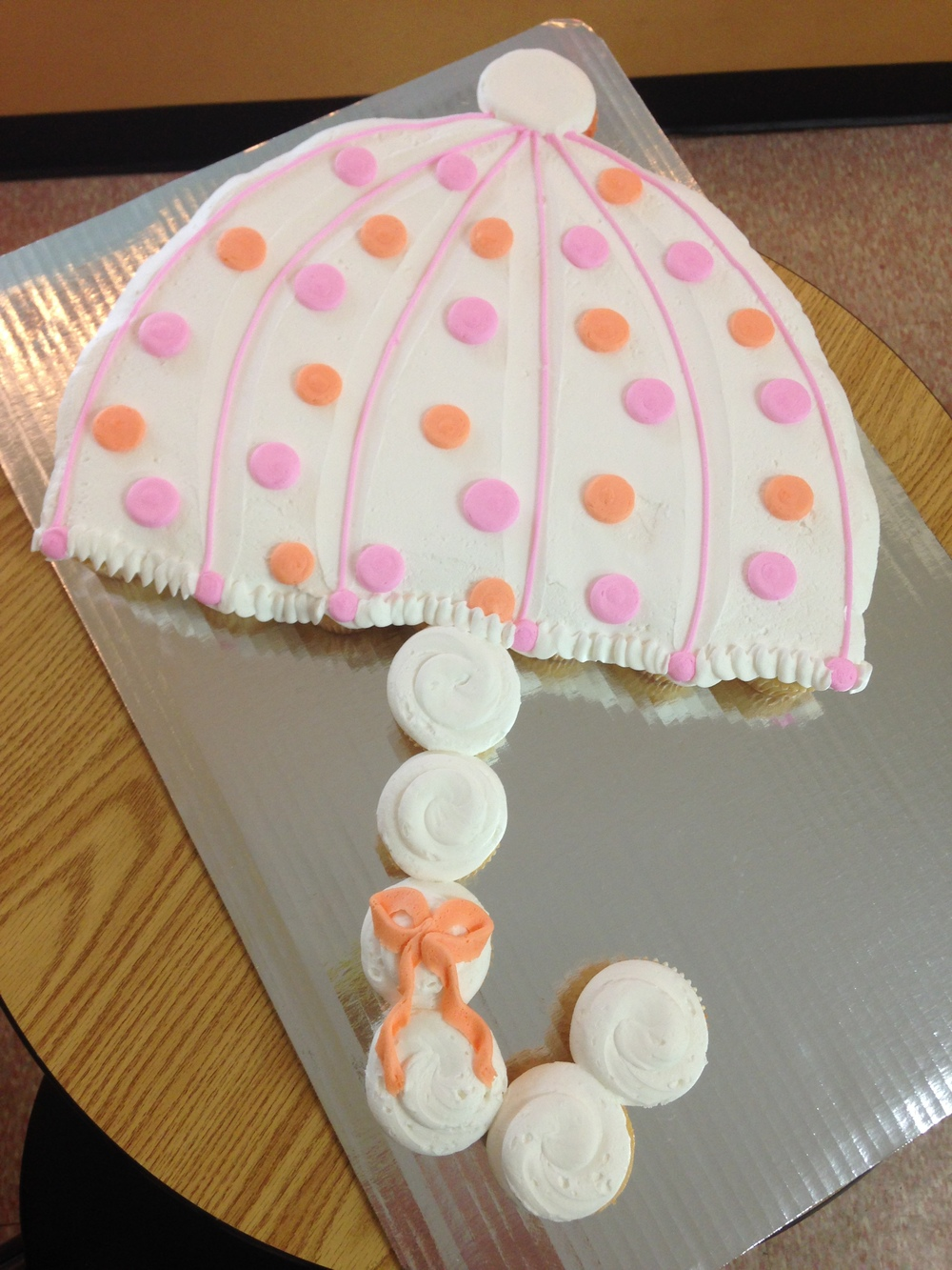 Shower Umbrella out of Cupcakes