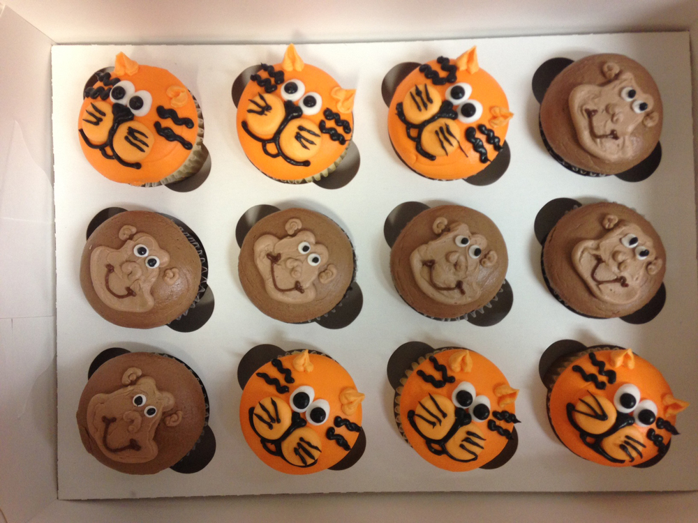 Tiger Cupcakes & Monkey Cupcakes