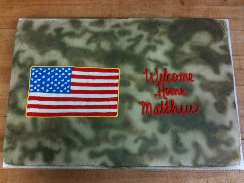 Camo & American Flag