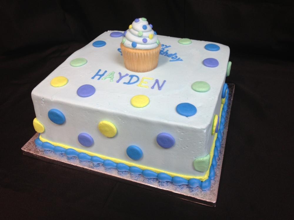Matching Cupcake Topper