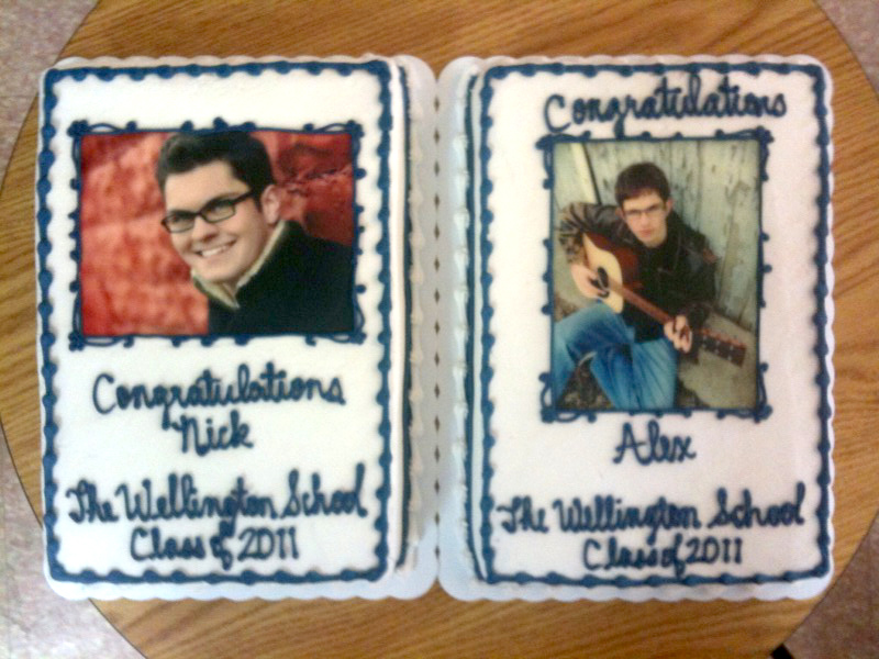 Senior Portrait Photo Cakes