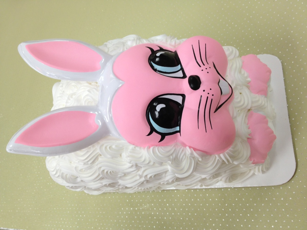 Bunny Shaped Cake