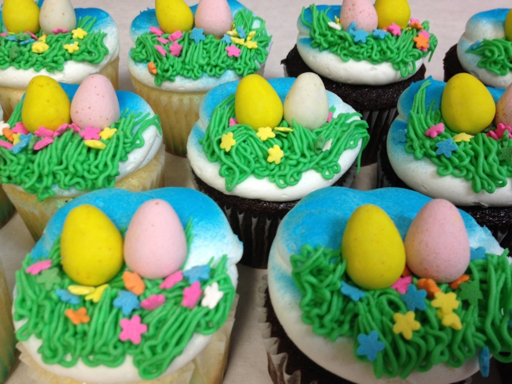 Egg Hunt Cupcakes
