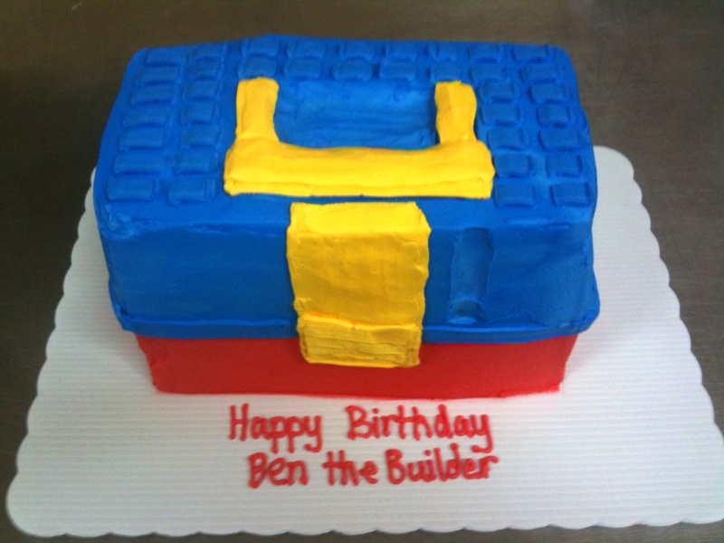 Child's Toolbox Shaped Cake