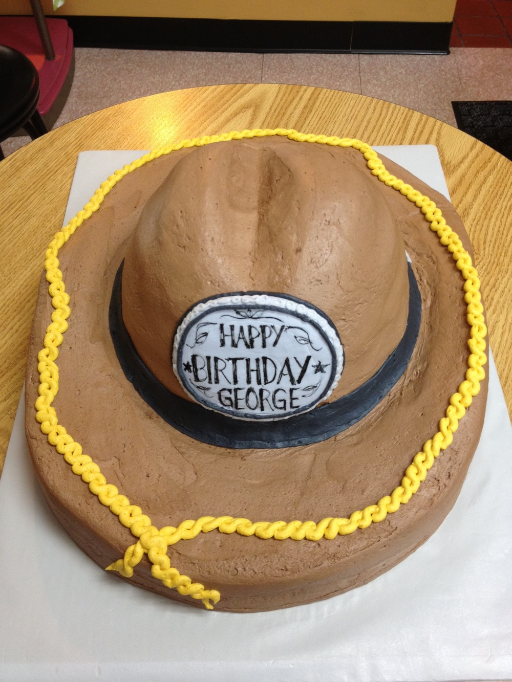 Cowboy Hat Shaped Cake