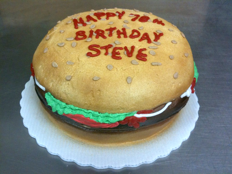 Burger Shaped Cake