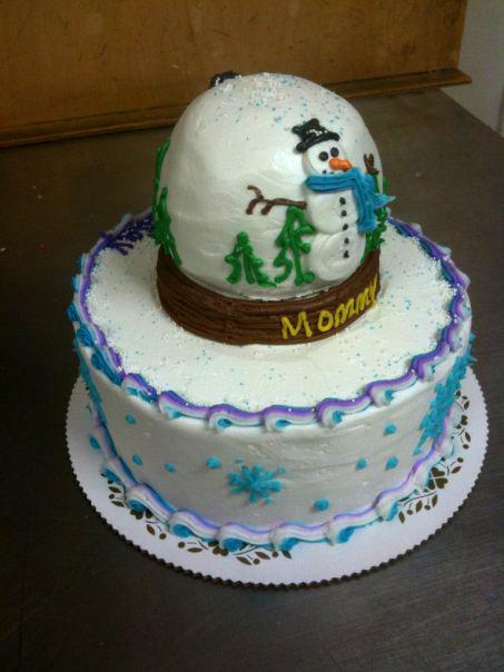 Snow Globe Cake on Cake!